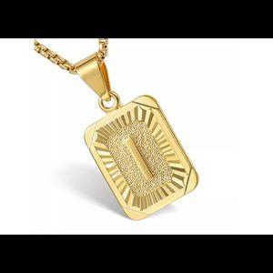 """Gold Filled Letter I Pendant 20"""" Long Necklace"""